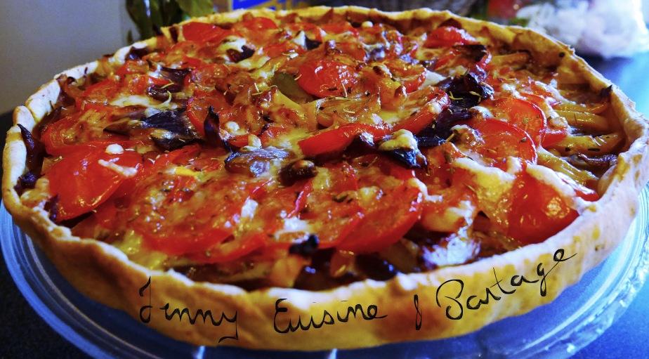 Tarte Oignons/Échalotes/Poivron/Tomates