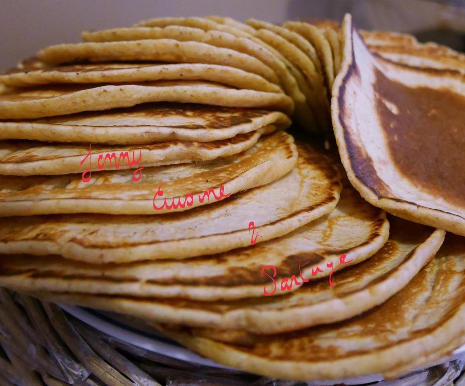 Pancakes à la farine complète, sanslactose