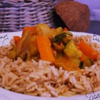Curry de patates douces (lait de coco)