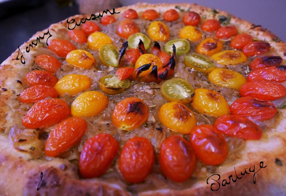 ~Tarte Oignons de Toulouges/Tomates Cerise Façon Fête duFour~