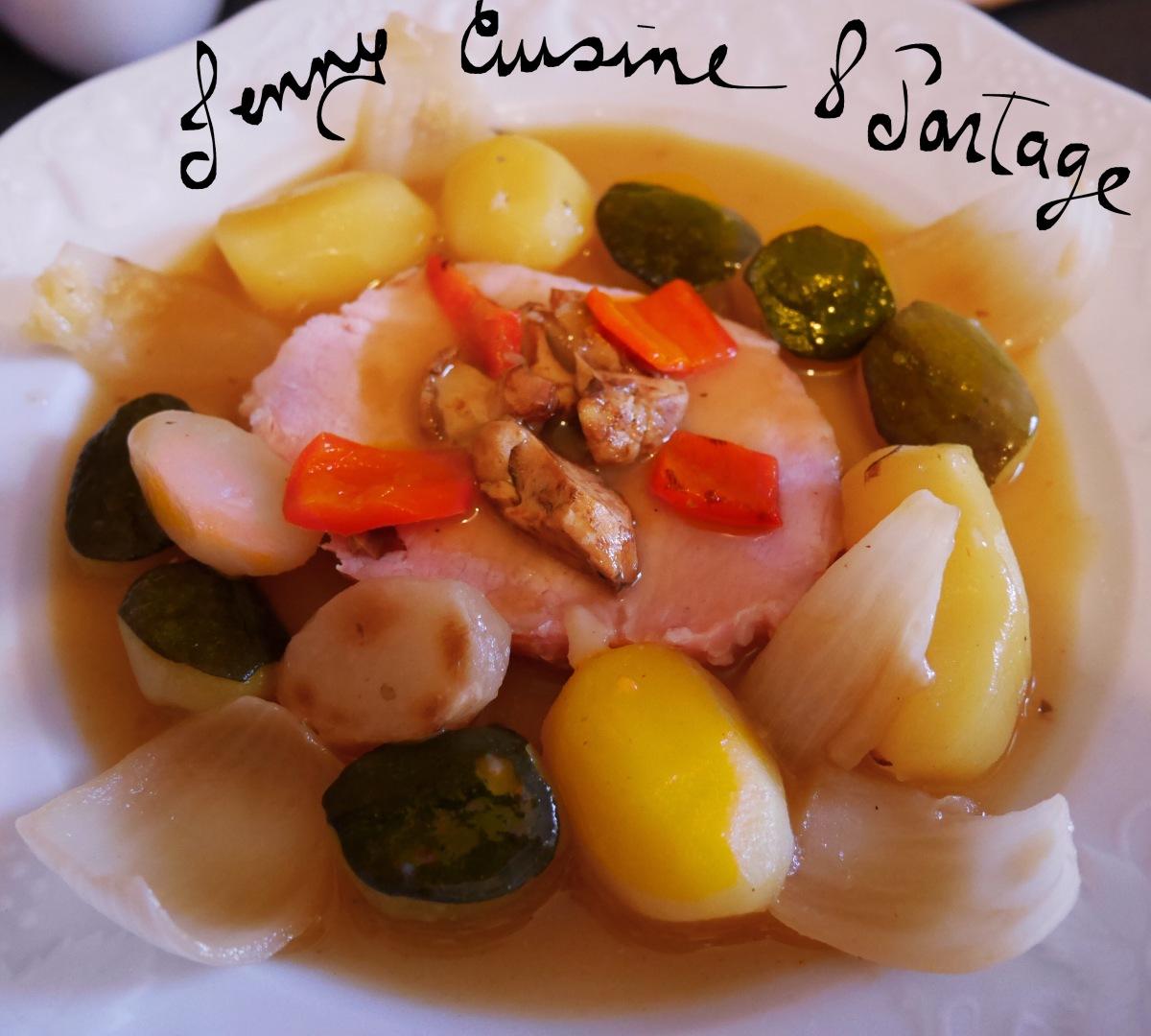 Roti De Porc Saumure Et Ses Petits Legumes Jennycuisineetpartage