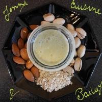 Crème dessert pistache/amande sans lactose