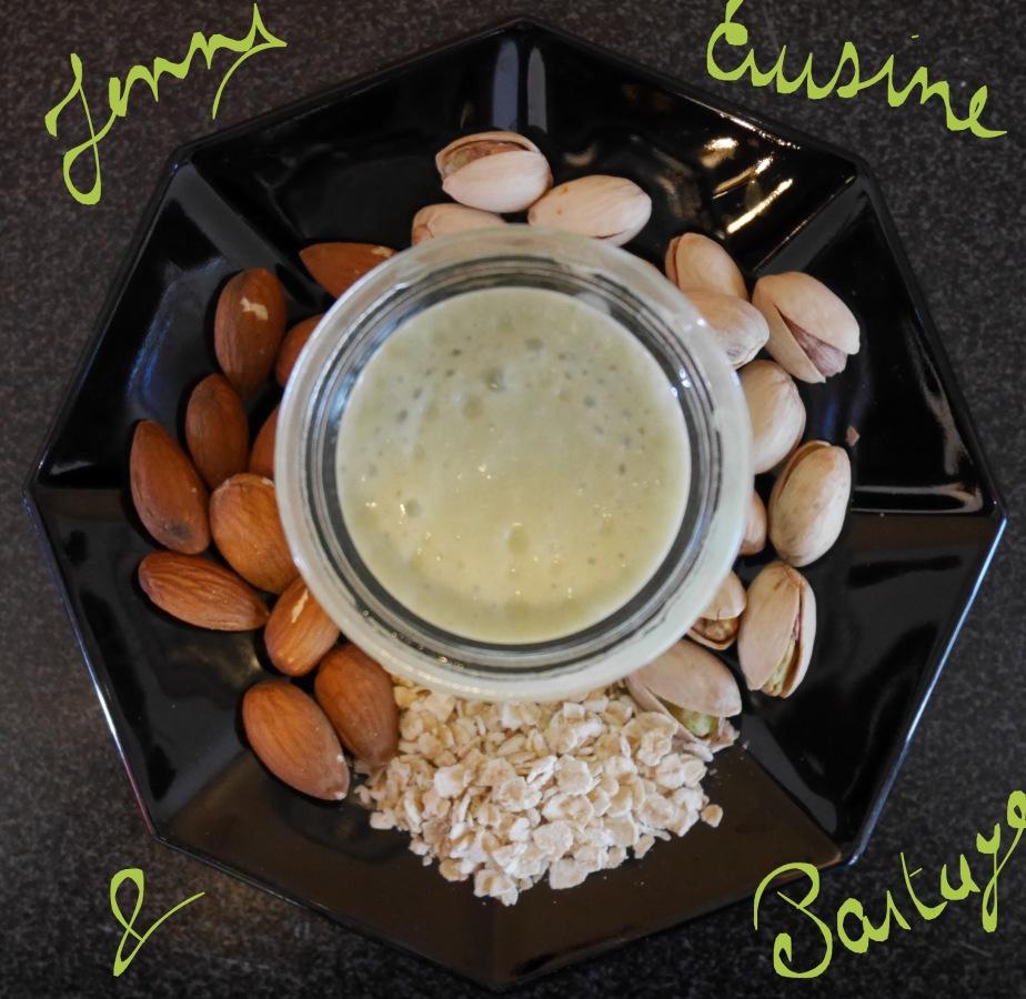 Crème dessert à la pistache sanslactose