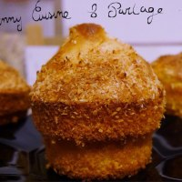 Petits gâteaux moelleux  au yaourt parfum banane /coco