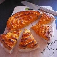 Tarte à la courge version fromage blanc tonka poudre d'amande complète