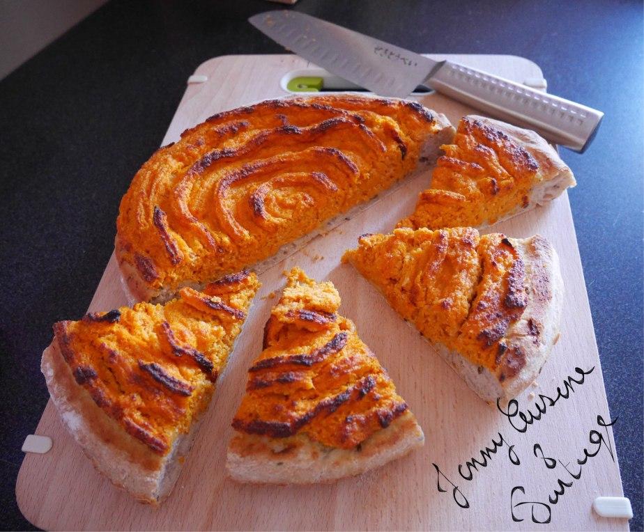Tarte à la courge version fromage blanc tonka poudre d'amandecomplète