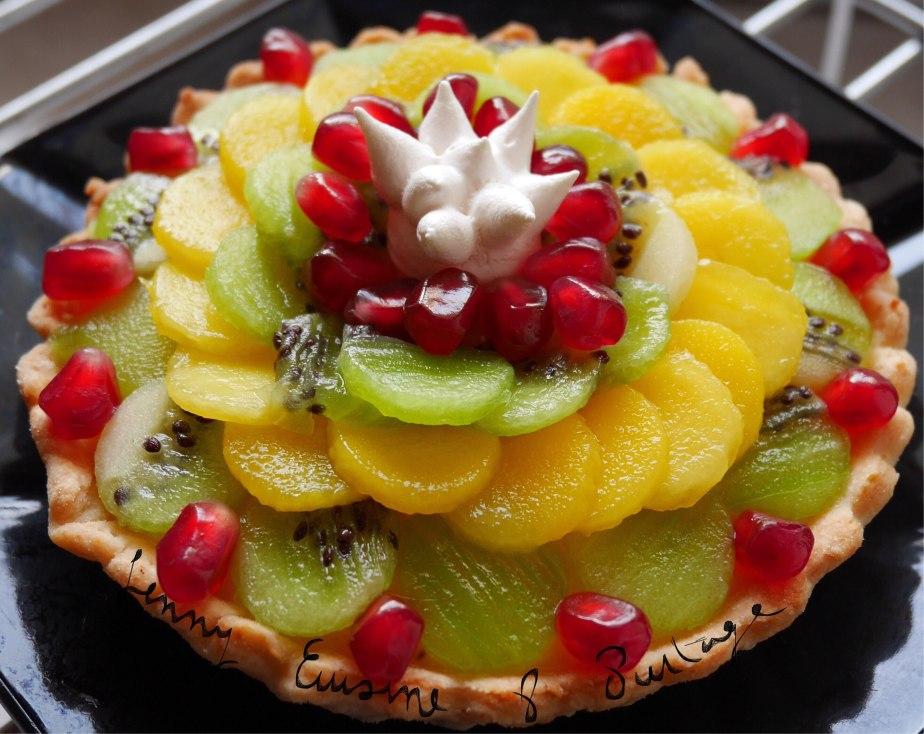 Tartelettes au crémeux passion, kiwi, mangue et grenadefraîche