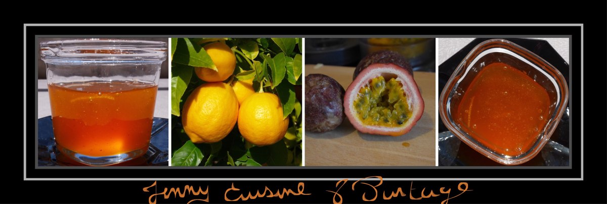 Confiture maison, citron/passion