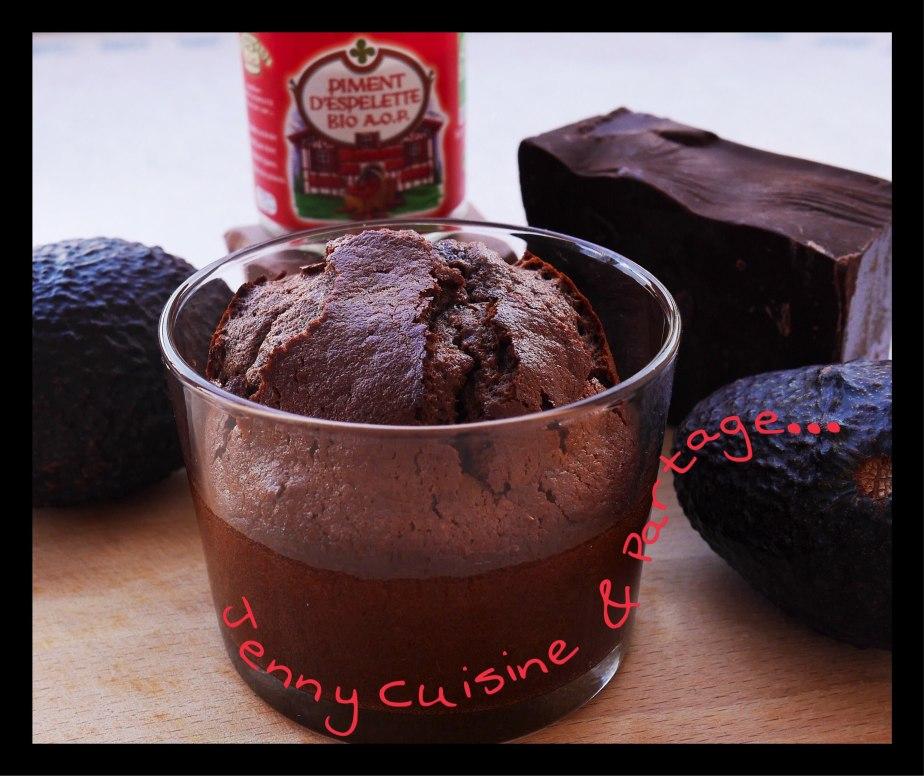 Moelleux Chocolat piment d'espelette sans beurre ( àl'avocat)