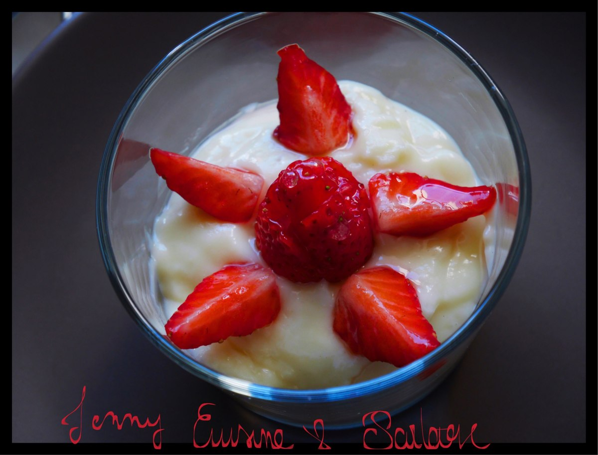 Crème pâtissière au lait d'amande