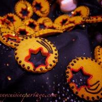 Biscuits sablés de fêtes potiron bleu et anis
