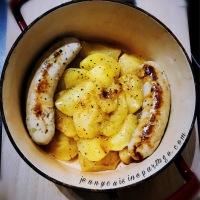 Boudin blanc aux épices et pommes